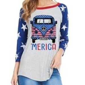 """MERICA Graphic Tee Unique Find/Out of production"